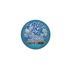 Masonic Katrina Mini Button (100 pack)