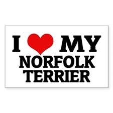 I Love My Norfolk Terrier Rectangle Decal
