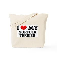 I Love My Norfolk Terrier Tote Bag