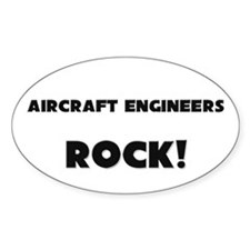 Aircraft Engineers ROCK Oval Sticker