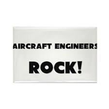 Aircraft Engineers ROCK Rectangle Magnet