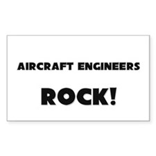 Aircraft Engineers ROCK Rectangle Sticker
