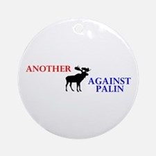 Moose Against Palin Ornament (Round)