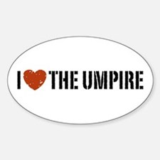 I Love The Umpire Oval Decal