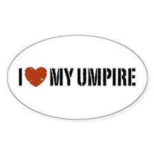 I Love My Umpire Oval Decal