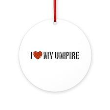 I Love My Umpire Ornament (Round)