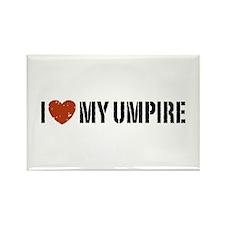 I Love My Umpire Rectangle Magnet