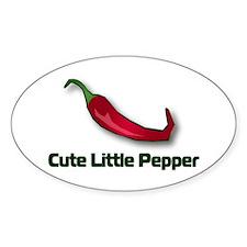Cute Little Pepper Oval Decal