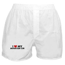I Love My Mountain Cur Boxer Shorts