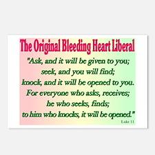 Original Bleeding Heart Liberal Postcards (Package
