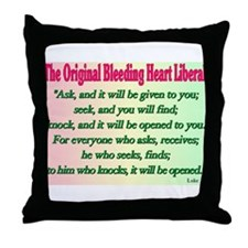 Original Bleeding Heart Liberal Throw Pillow