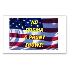No Dogma and Phony Show Rectangle Decal