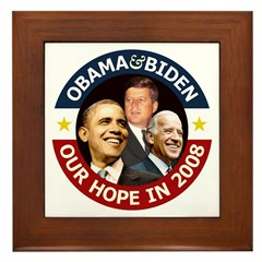 Obama-Biden & John F. Kennedy Framed Tile