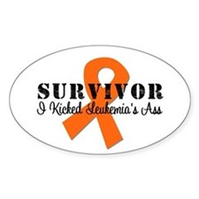 Leukemia-KickedAss Oval Sticker (10 pk)