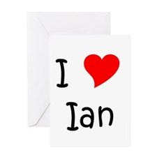 Cute I love ian Greeting Card