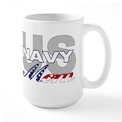 US Navy Mom Large Mug