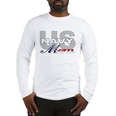 US Navy Mom Long Sleeve T-Shirt