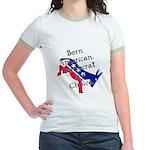 Born American. Democrat by Ch Jr. Ringer T-Shirt