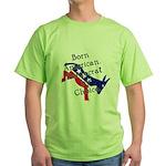 Born American. Democrat by Ch Green T-Shirt