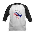 Born American. Democrat by Ch Kids Baseball Jersey