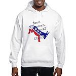 Born American. Democrat by Ch Hooded Sweatshirt