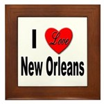 I Love New Orleans Framed Tile