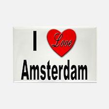I Love Amsterdam Rectangle Magnet