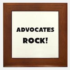 Advocates ROCK Framed Tile