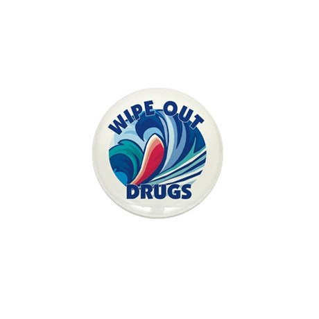 Wipe Out Drugs Mini Button (10 pack)