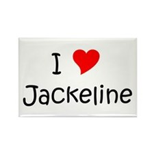 Cool Jackeline Rectangle Magnet