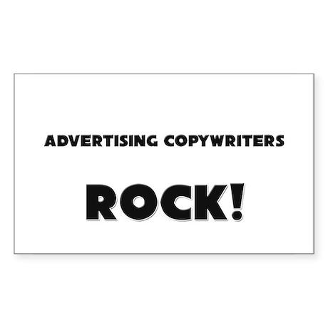 Advertising Copywriters ROCK Rectangle Sticker