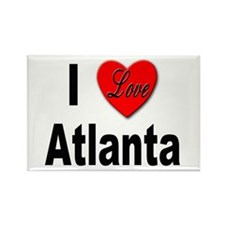 I Love Atlanta Rectangle Magnet