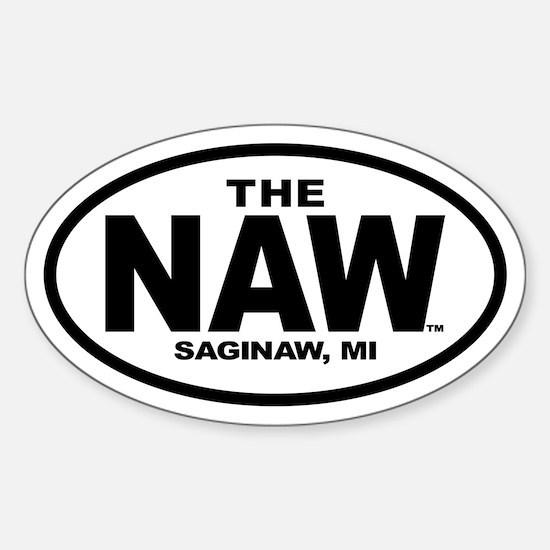 The Naw - Saginaw, Michigan (Oval Sticker)