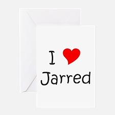 Unique I love jarred Greeting Card
