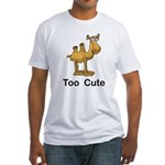 Too Cute Camel Fitted T-Shirt