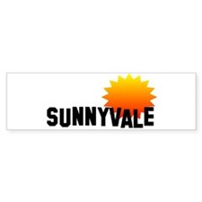 Sunnyvale Bumper Car Sticker
