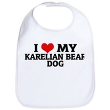 I Love My Karelian Bear Dog Bib