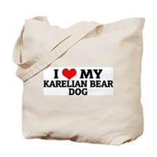 I Love My Karelian Bear Dog Tote Bag
