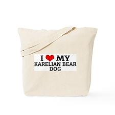 I Love My Karelian Bear Dog Tote Bag