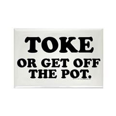 Toke Or Get Off The Pot Rectangle Magnet (10 pack)