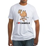 I Love Camels Fitted T-Shirt