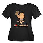 I Love Camels Women's Plus Size Scoop Neck Dark T-
