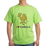 I Love Camels Green T-Shirt