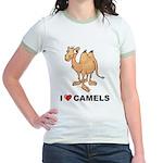 I Love Camels Jr. Ringer T-Shirt