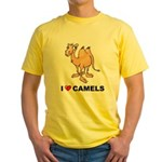 I Love Camels Yellow T-Shirt