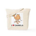 I Love Camels Tote Bag