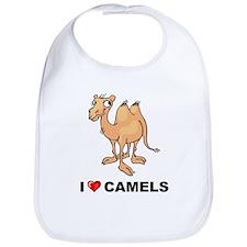 I Love Camels Bib