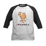I Love Camels Kids Baseball Jersey