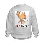 I Love Camels Kids Sweatshirt