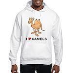 I Love Camels Hooded Sweatshirt